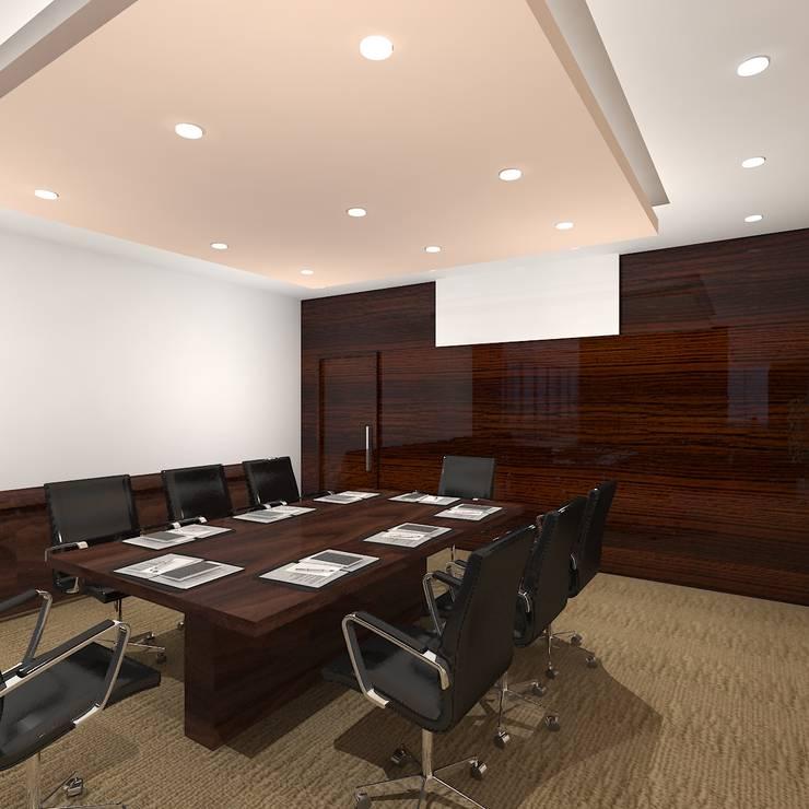 Meeting Room:  Office buildings by Gurooji Design