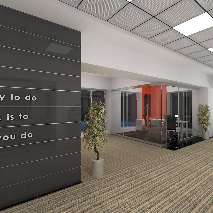 Corridor :  Office buildings by Gurooji Design