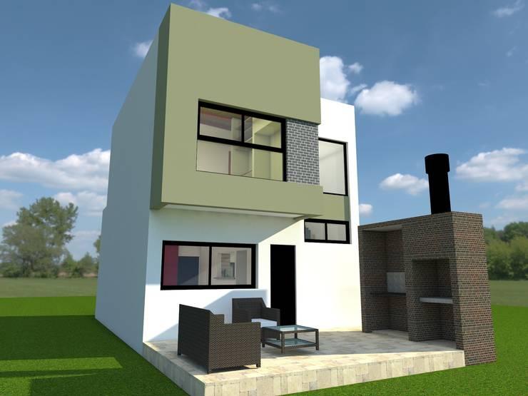 Contrafrente: Casas de estilo  por Estudio Loodus,