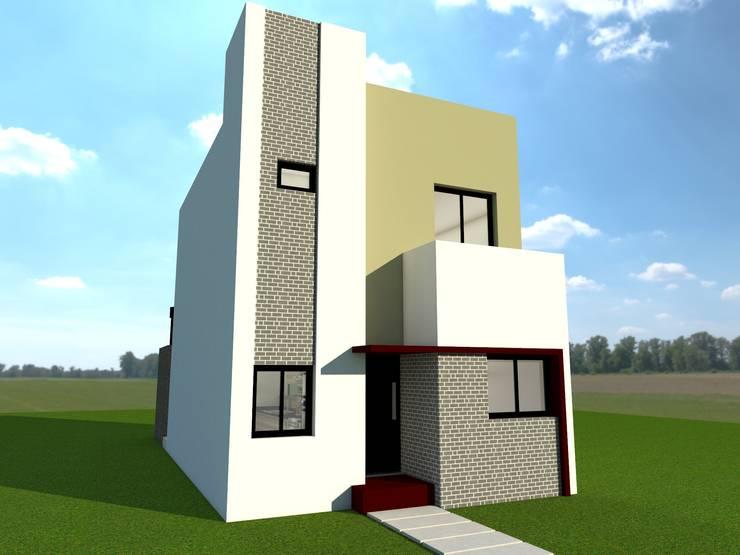 Frente: Casas de estilo  por Estudio Loodus,
