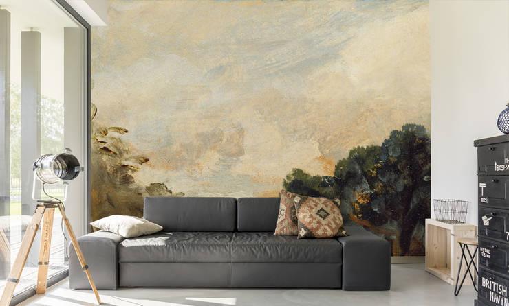 John Constable Cloud Wallpaper with Trees par Wallsauce.com Classique Papier
