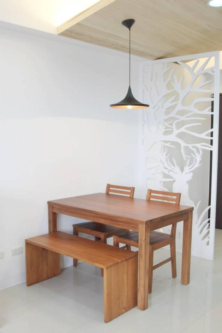 Scandinavian style dining room by 鹿敘空間設計 Scandinavian