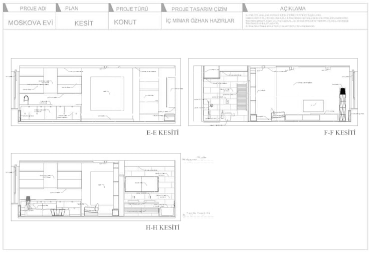 Projekty,   zaprojektowane przez ÖZHAN HAZIRLAR İÇ MİMARLIK