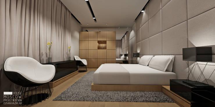 Projekty,  Sypialnia zaprojektowane przez ÖZHAN HAZIRLAR İÇ MİMARLIK