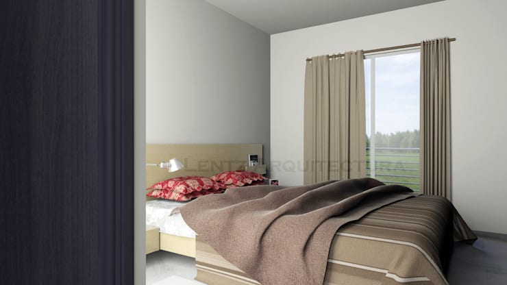 Habitaciones de estilo  por Lentz Arquitectura Diseño y Construcción