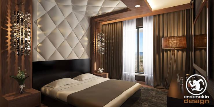غرفة نوم تنفيذ Erden Ekin Design
