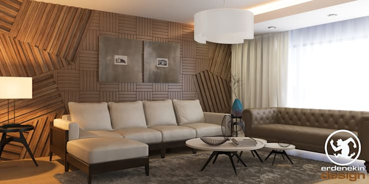 غرفة المعيشة تنفيذ Erden Ekin Design
