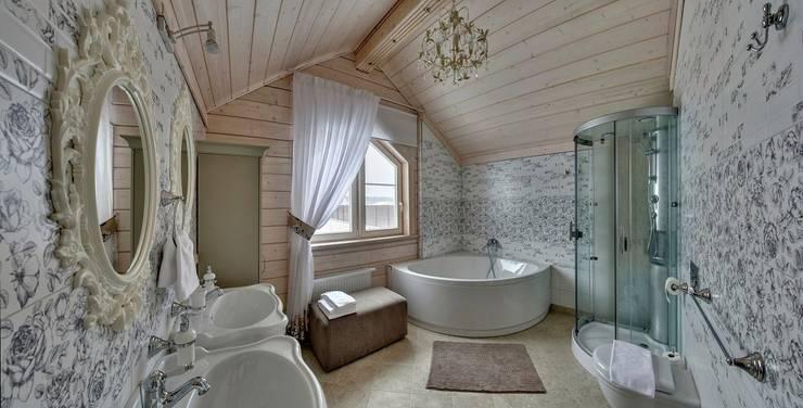 Коттедж 217 м2 клееный брус GOOD WOOD: Ванные комнаты в . Автор – GOOD WOOD