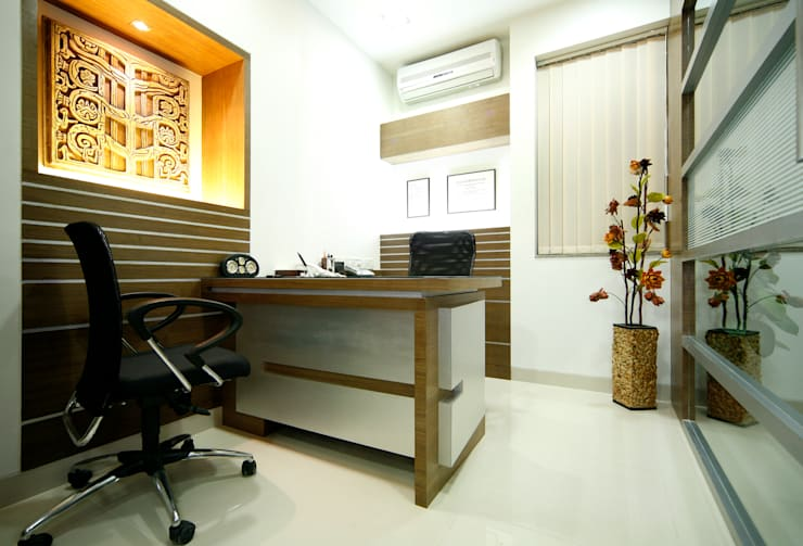 Office Interiors:  Commercial Spaces by Artek-Architects & Interior Designers,Modern Wood Wood effect