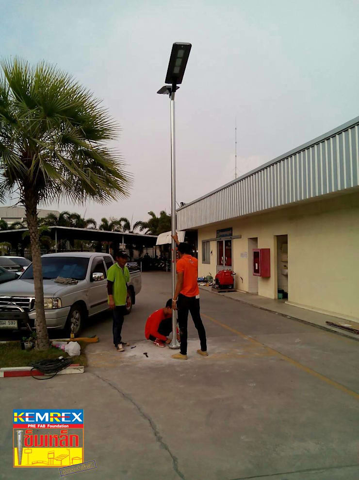 งานฐานราก Solar street light:   by บริษัทเข็มเหล็ก จำกัด