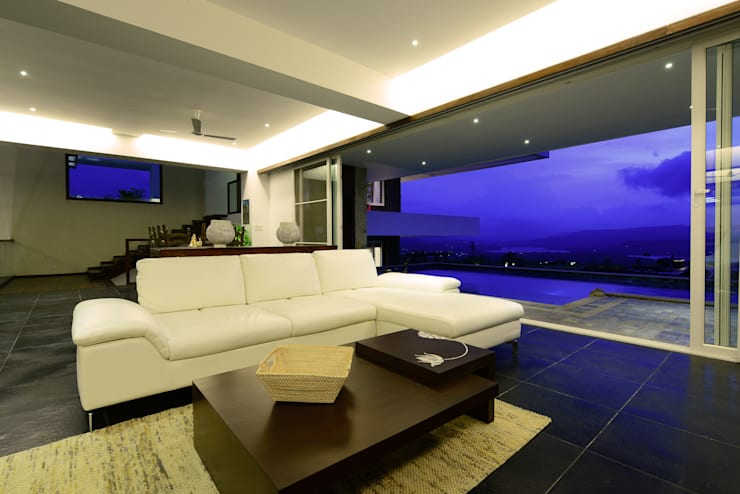 11 K-Waks: modern Living room by Studio K-7 Designs Pvt. Ltd