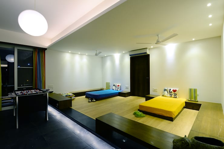 11 K-Waks: modern Bedroom by Studio K-7 Designs Pvt. Ltd