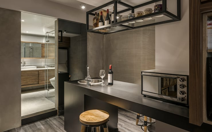 東門住宅:  廚房 by 齊禾設計有限公司