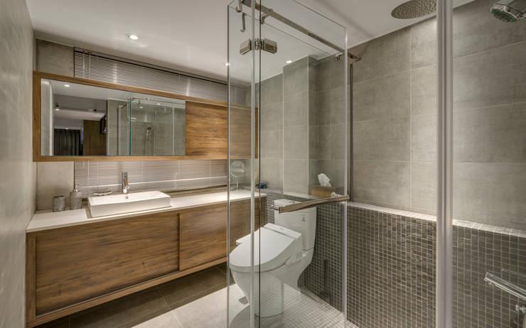 東門住宅:  浴室 by 齊禾設計有限公司