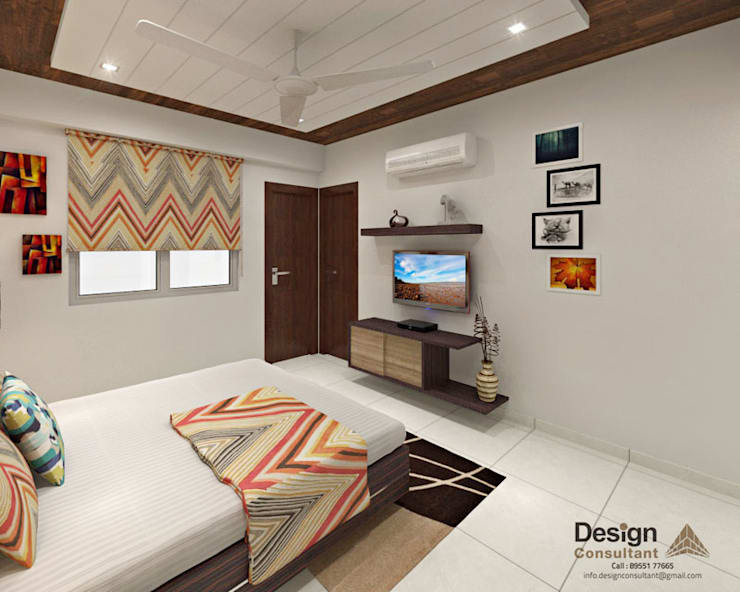 Master Bedroom:  Bedroom by Design Consultant