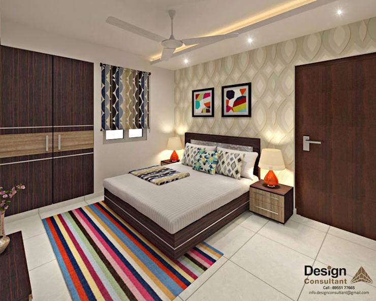 Guest Bedroom 2: asian Bedroom by Design Consultant