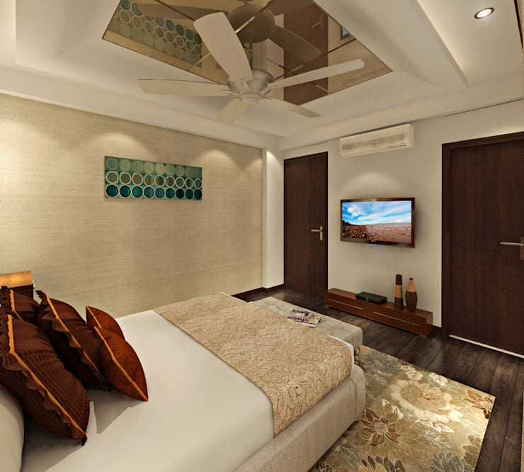 Master Bedroom: asian Bedroom by Design Consultant