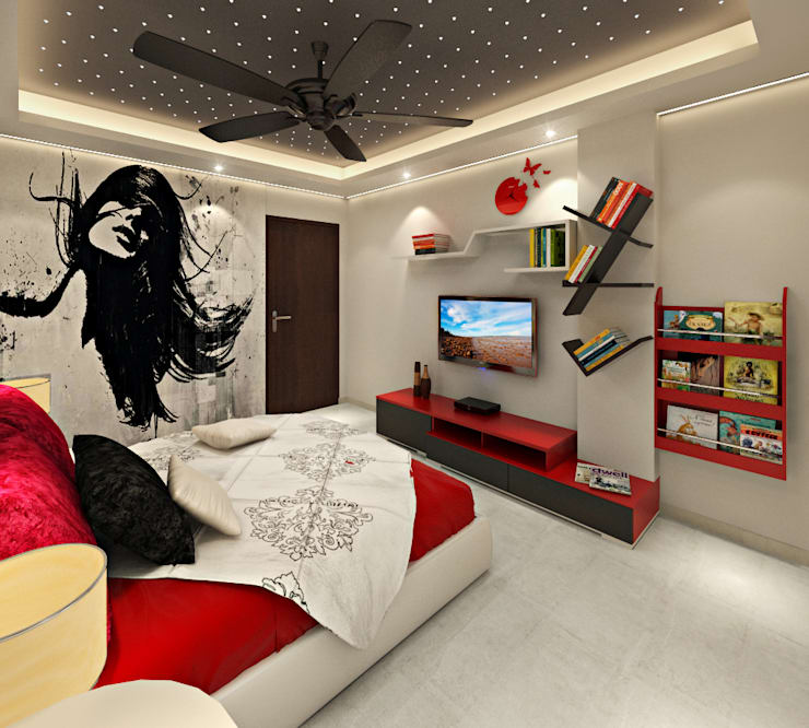 3BHK Flat Interior Design and Decorate at Alwar: asian Nursery/kid's room by Design Consultant