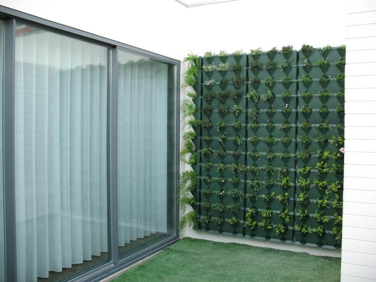 Jardim Vertical - Moradia Unifamiliar: Jardins  por Pedro Parente Vasconcelos - Arquitetura Paisagista