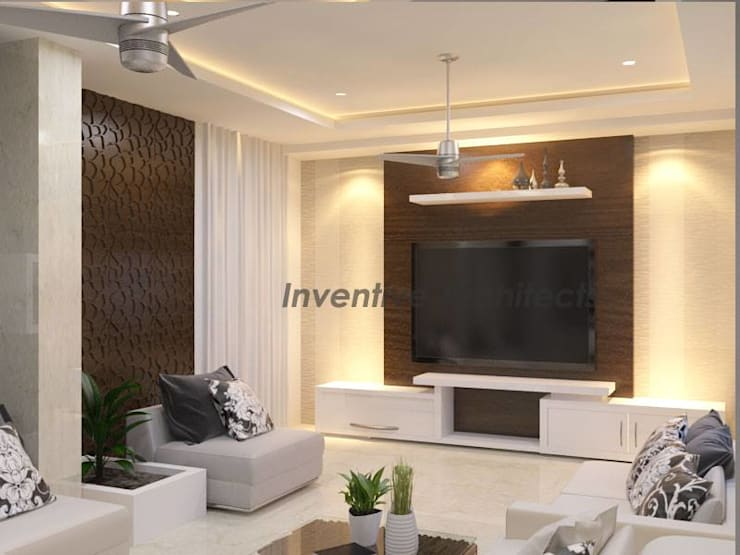 Interior Project for 3BHK Flat:  Media room by Inventivearchitects