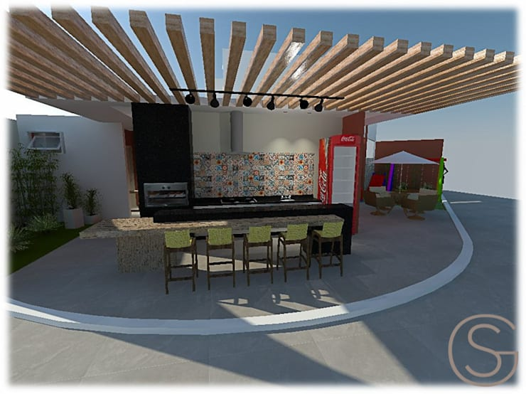 Terrazas de estilo  por Gislene Soeiro Arquitetura e Interiores