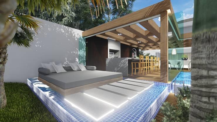 Projekty, nowoczesne Spa zaprojektowane przez Adriane Cequinel Varella Arquitetura
