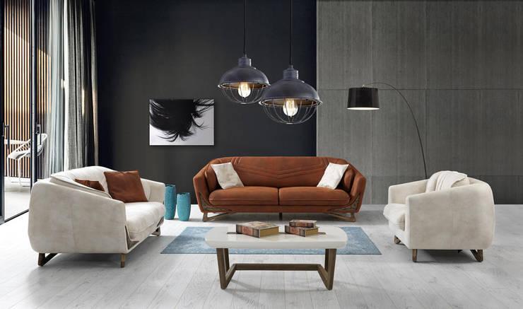 YILDIZ MOBİLYA – Sardunya Salon Takımı: modern tarz Oturma Odası