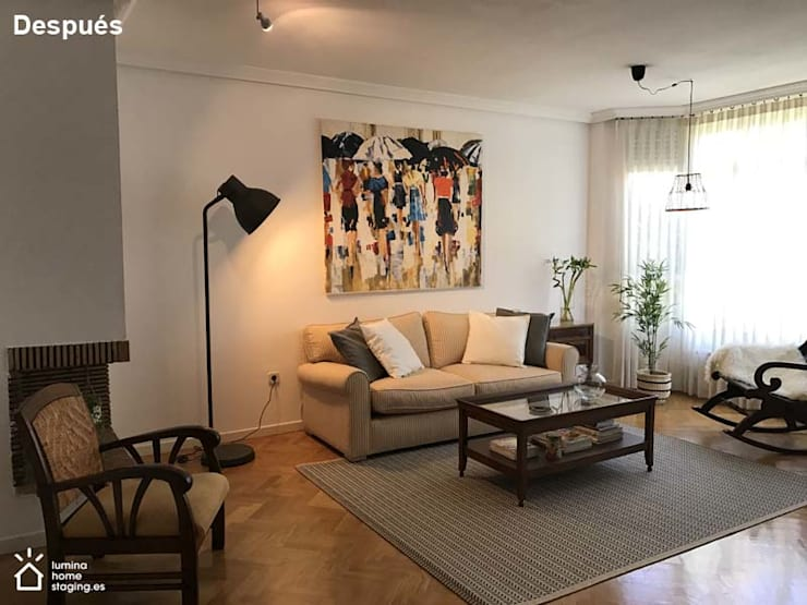 La mejor versión del salón:  de estilo  de Lúmina Home Staging