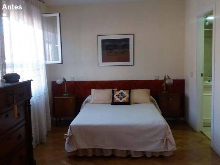 El dormitorio se ve grande pero le falta...:  de estilo  de Lúmina Home Staging