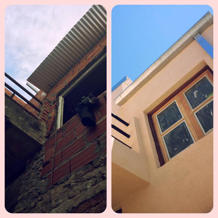 Fachada patio: Casas de estilo  por estudionvarquitectura