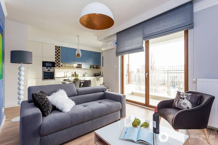 Living room by Michał Młynarczyk Fotograf Wnętrz, Modern