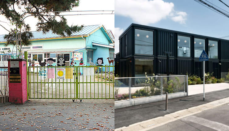 50-Year-Old Kindergarten Gets A Makeover With Shipping Containers:   by Prefabmarket.com
