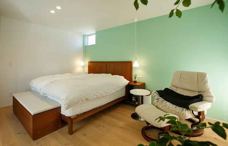 Dormitorios de estilo escandinavo por 福田康紀建築計画