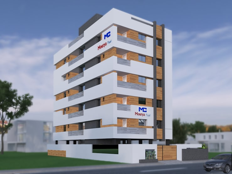 Mourya Pearls:  Houses by Mourya Constructions,Asian