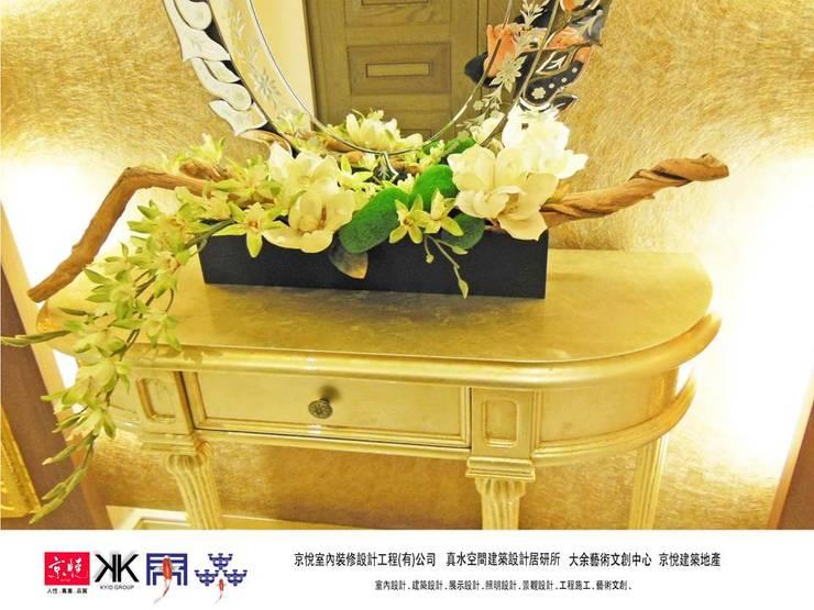 京悅設計 - 誠臻邸豪宅會所:  走廊 & 玄關 by 京悅室內裝修設計工程(有)公司|真水空間建築設計居研所
