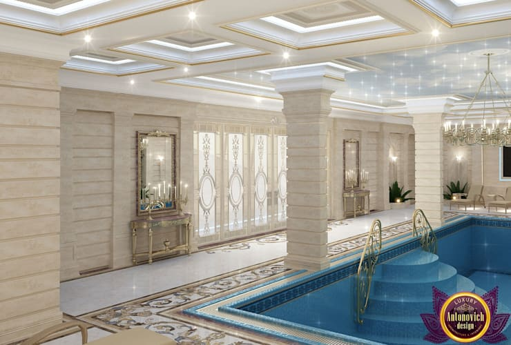Pool Design of Katrina Antonovich, Paradise Oasis in Your Own Home:  Pool by Luxury Antonovich Design