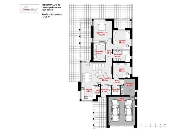 de estilo  por HomeKONCEPT | Projekty Domów Nowoczesnych