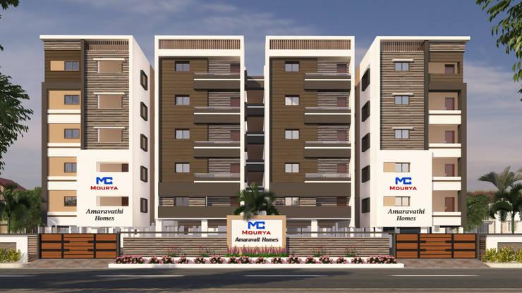 Mourya Amaravathi Homes:  Houses by Mourya Constructions