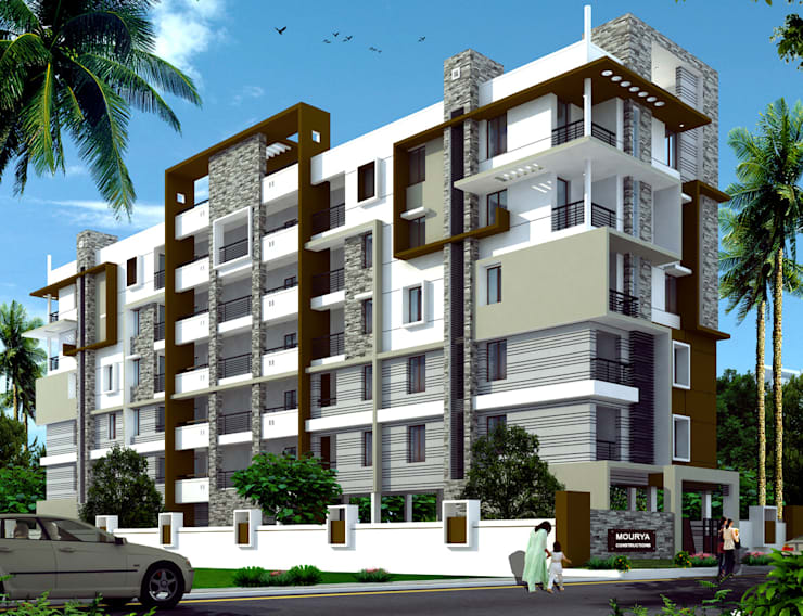 Mourya Classic: classic Houses by Mourya Constructions