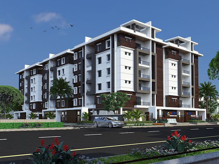Mourya Palace:  Houses by Mourya Constructions,