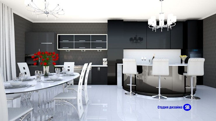 Kitchen in art deco style: classic Kitchen by 'Design studio S-8'