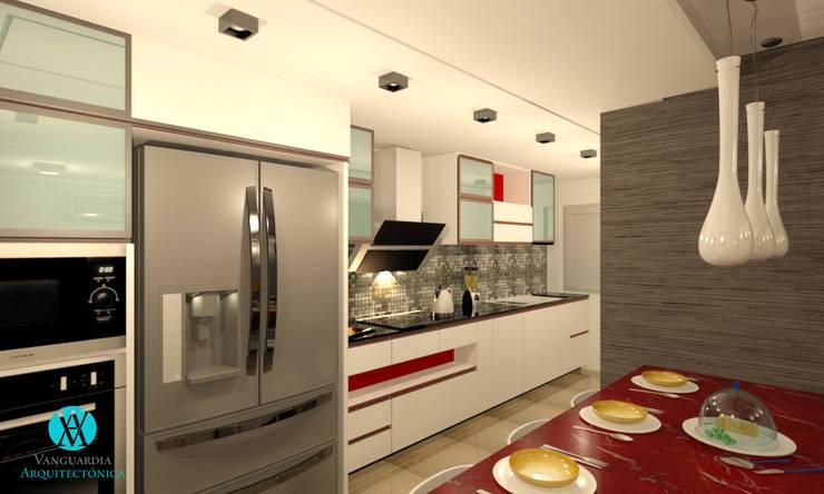 Cocina de estilo  por Vanguardia Arquitectónica