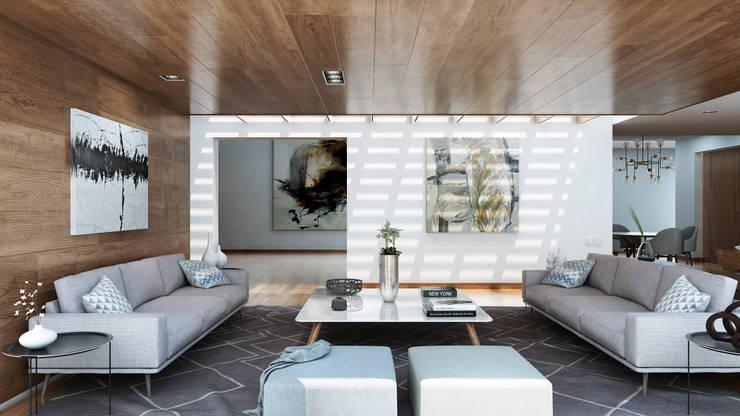 Salas/Recibidores de estilo moderno por LG STUDIO