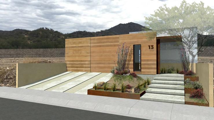 FACHADA PRINCIPAL Casas de estilo moderno de COTA ESTÉVEZ ARQUITECTURA Moderno