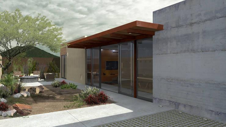 PATIO Casas de estilo moderno de COTA ESTÉVEZ ARQUITECTURA Moderno