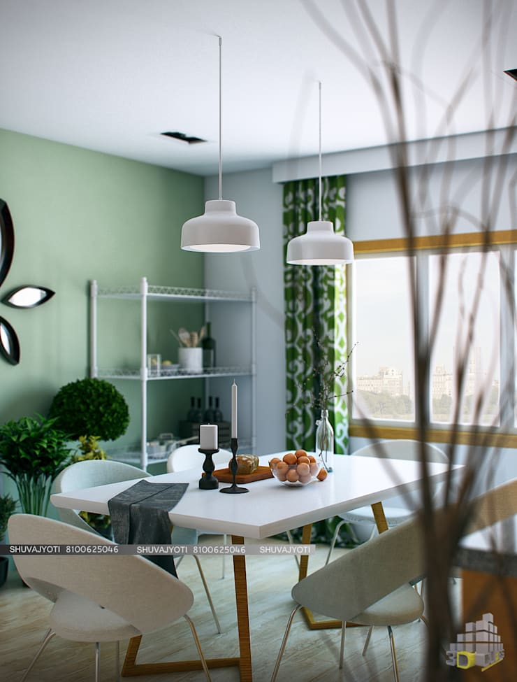 3D VISUALIZATION: scandinavian Dining room by FREELANCE