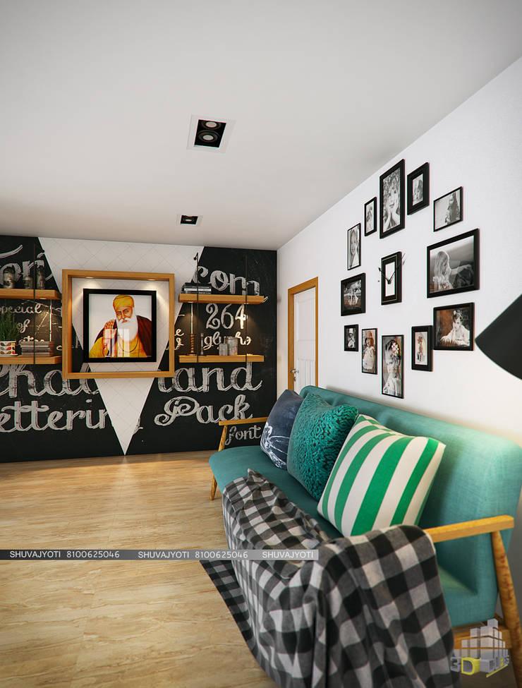 3D VISUALIZATION: scandinavian Living room by FREELANCE