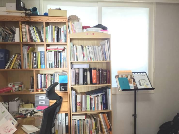[홈라떼] 일산 32평 거주중인 집 홈스타일링 : homelatte의  서재 & 사무실