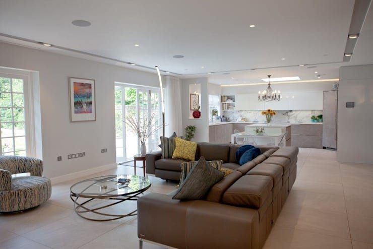 modern Living room by XUL Architecture