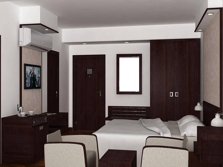 Bedroom Interior: modern Bedroom by Shitiz architects